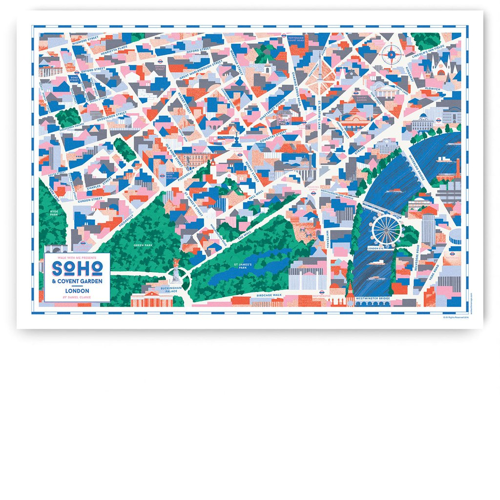 Soho covent garden walk with me map for Hobo designs covent garden