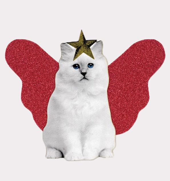Red Wings Kitten Tree Topper