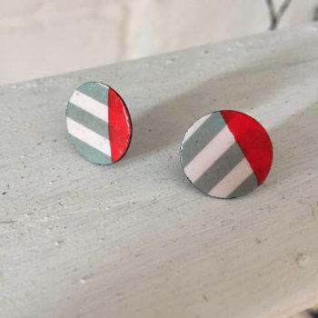 Round Art Deco Earrings